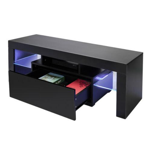 High TV Cabinet Console Furniture Shelves & Drawers Black