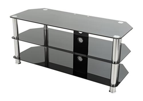 TV Stand Management up to 55-inch Chrome