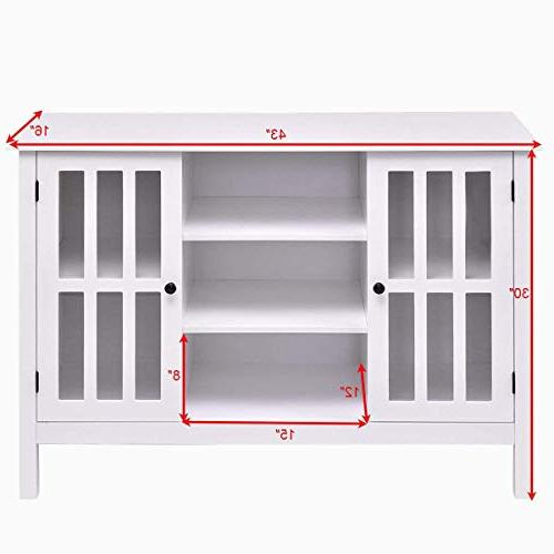 "Tangkula TV Stand Storage Console Free Cabinet Holds A 45"" TV"