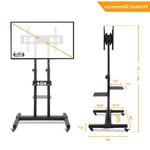 """TAVR Cart Rolling Mobile Stand for 32"""""""