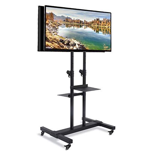 """TAVR Universal Dual Cart Mobile Stand Suitable for 32"""" to Height Black MT1002"""