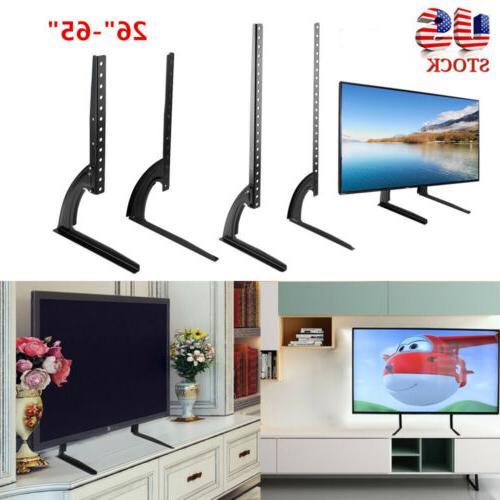 Universal Flat Screen TV Stand Base Tabletop VESA Pedestal M