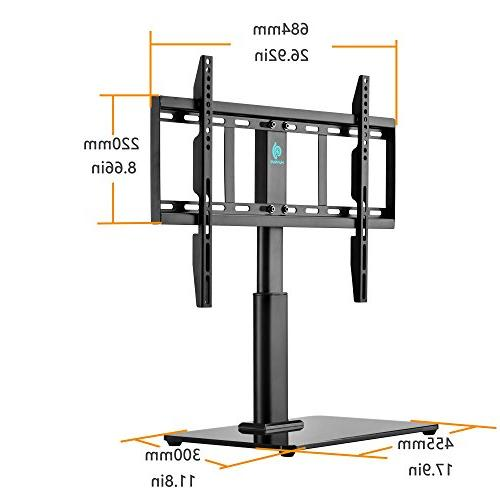 Universal Stand for 32 inch 60 with 36° & Height Adjustment , Tempered Glass Holds to Perfect for Table top by HUANUO