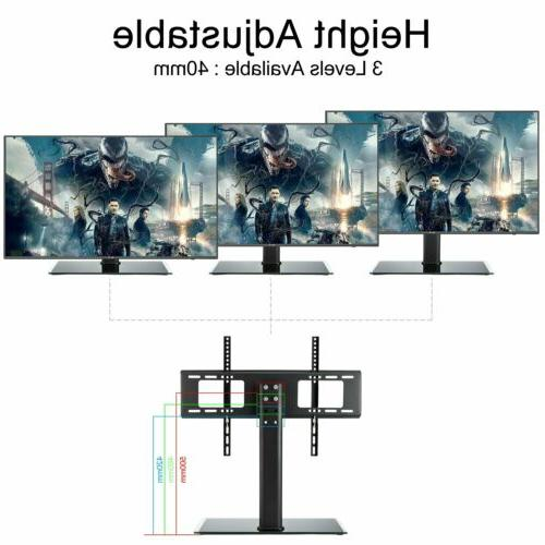 universal table top tv base stand