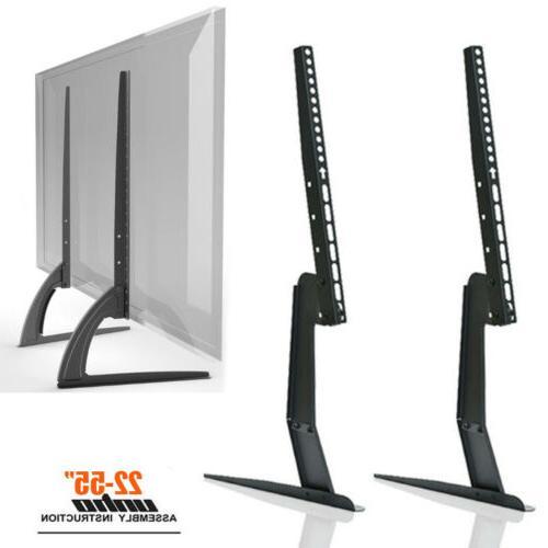 Table Top TV Stand Base Bracket Monitor Riser For 17-55 Sams