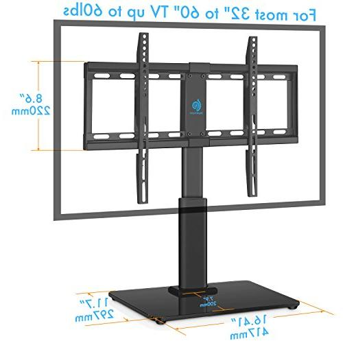 HUANUO Universal Top TV 32 Swivel, Adjustment,Tempered Base,Hold up to Screens