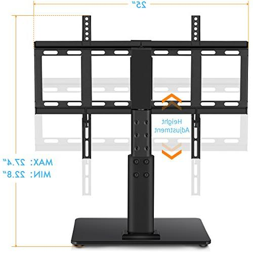 HUANUO HN-TVS02 Top Stand 32 to TVs Swivel, Adjustment,Tempered Base,Hold up to 60lbs