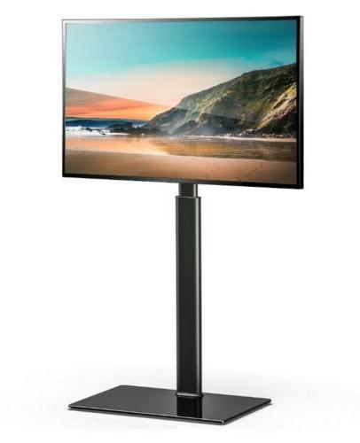 FITUEYES TV Stand Base wth Swivel Mount Height to 60