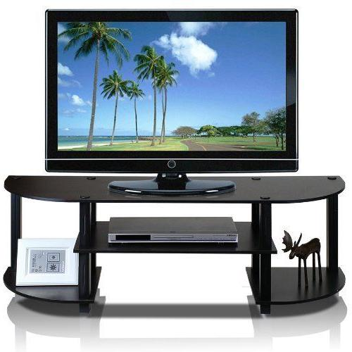 "Furinno 42"" TV Stand Entertainment Center Flat Screen Media"