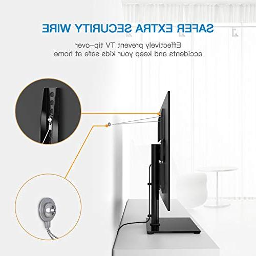 Universal TV Stand Table Top for Inch LED TVs Adjustable Base with & Wire Management Security up to 88lbs, 400x400mm