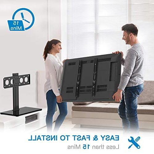 Universal TV - Table Top for 32-47 LED TVs - Adjustable & & Security Wire, Holds to 88lbs, VESA 400x400mm