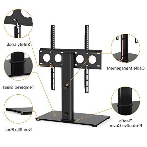 Universal TV Table Top Stand for 32-47 LED Adjustable Stand with Tempered & Management & Security Wire, up to VESA 400x400mm