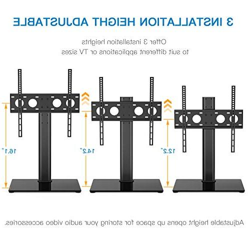 Universal TV - Table for LED Adjustable TV Base with Security up to 88lbs, VESA