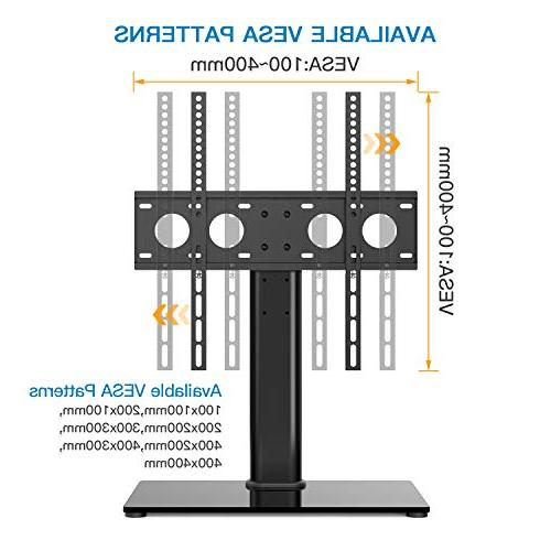 Universal TV Table TV for 32-47 Inch LCD LED TVs - Adjustable TV Stand with & Management Security Wire, Holds to
