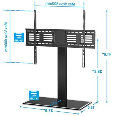 Universal TV Stand Swivel to TV Height Adjustable