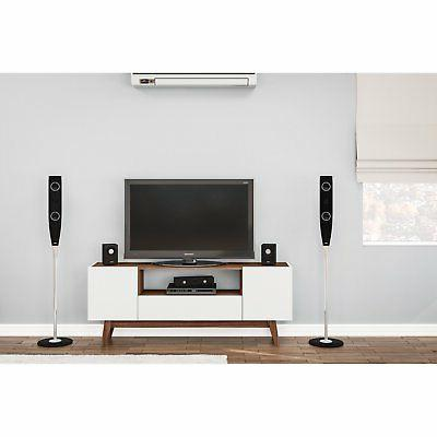 Polifurniture TV Stand, White, 65