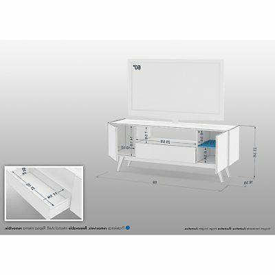 Polifurniture TV Stand, White,