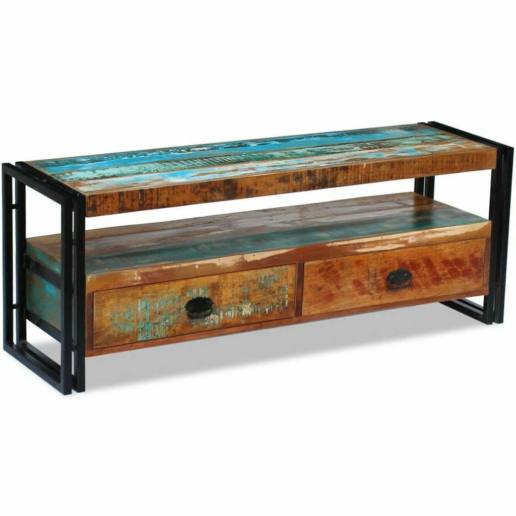 vidaXL Solid Reclaimed Wood TV Stand Cabinet Unit Media Ente