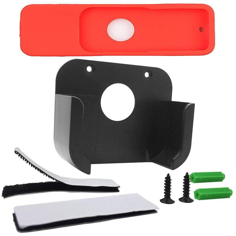 Wall Mount For Apple <font><b>TV</b></font> Gen Player <font><b>Stand</b></font> Controller Protective Skin