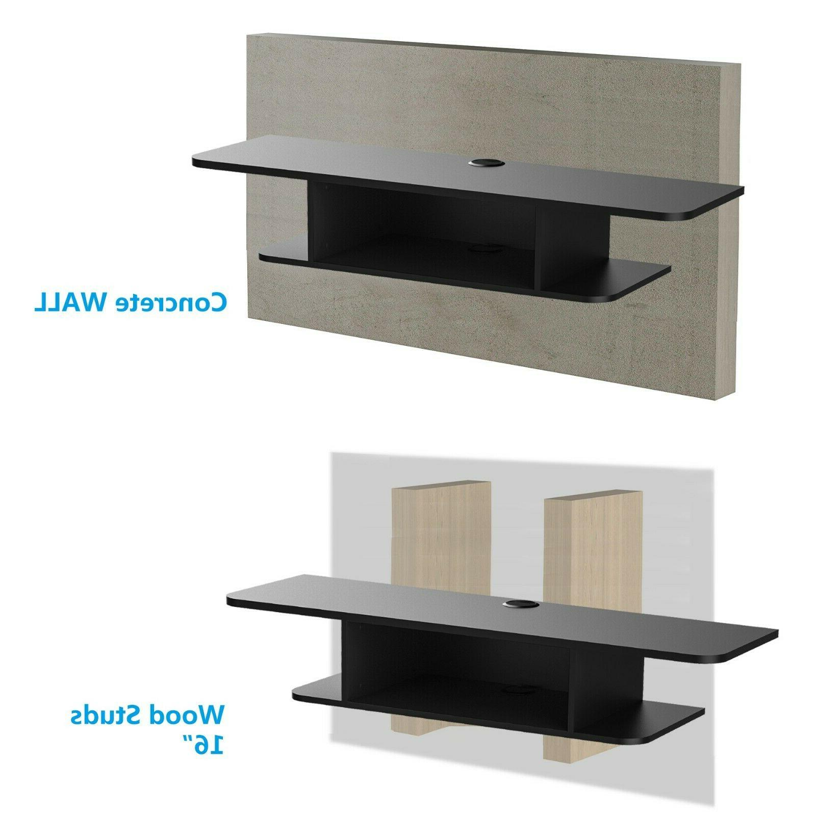 FITUEYES Wall Mounted Media Stand Component Shelf