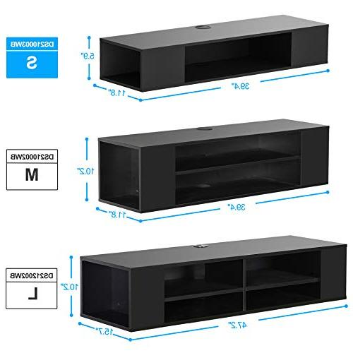 FITUEYES Wall Mounted Media Console,Floating TV Stand Component