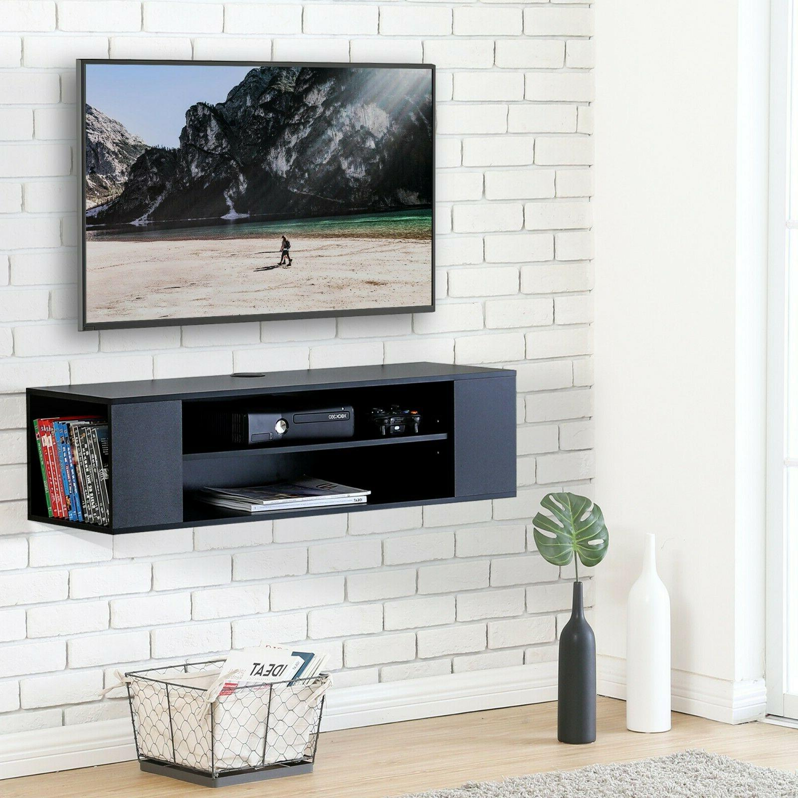 Floating TV Stand, Mounted Media Console, Shelf,