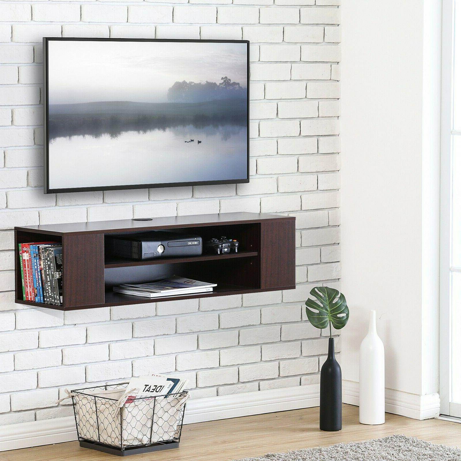 Floating TV Mounted Console, Shelf, Multiple Styles