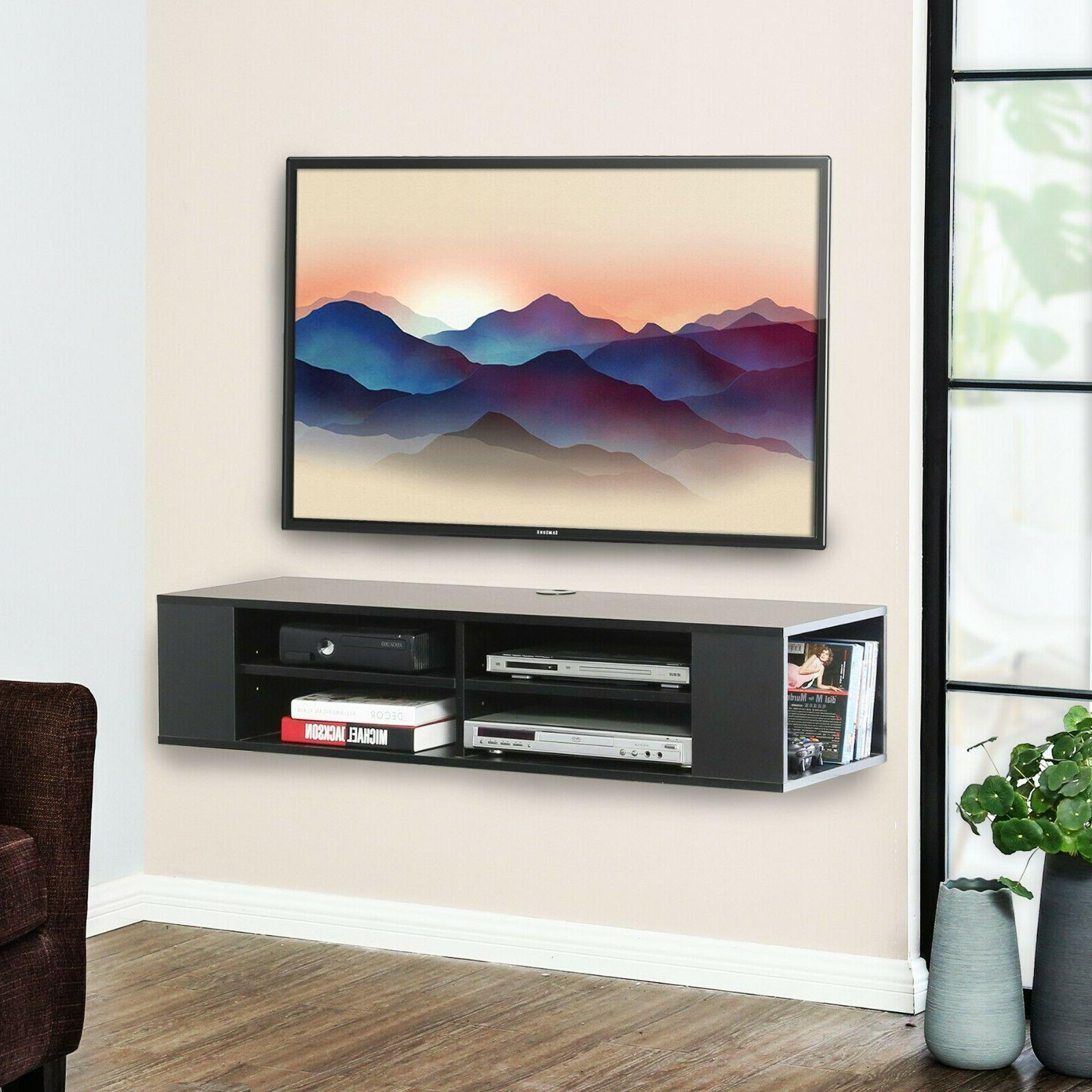 floating tv stand wall mounted media console