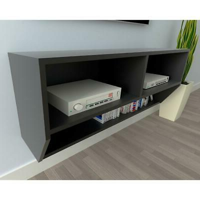 modern floating wall mounted tv stand unit