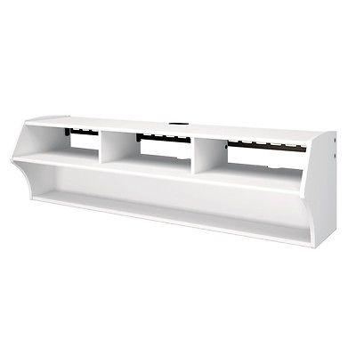 White Altus Plus Wall Mounted AudioVideo Console
