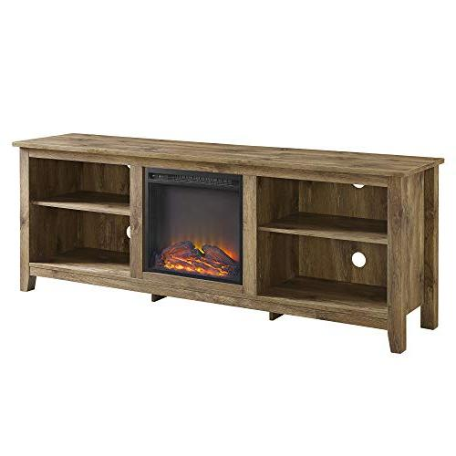WE Media with Fireplace -