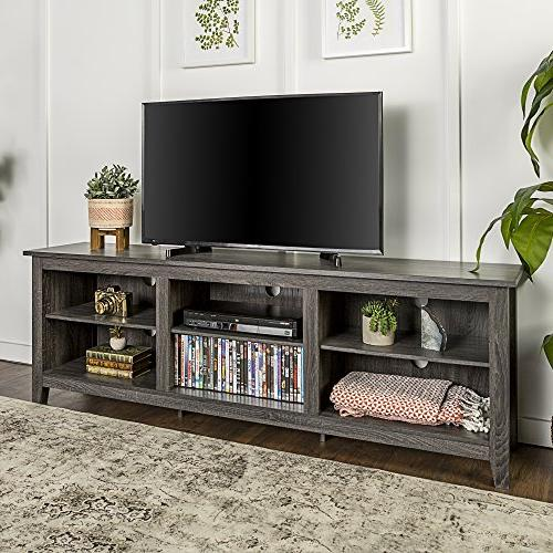 WE Furniture Wood Media Console -
