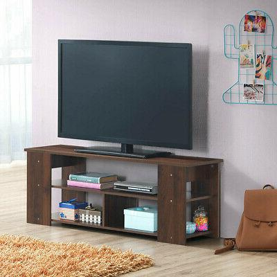 "Wood Storage TV Stand to 50""-Coffee"
