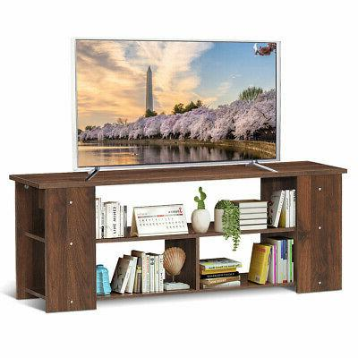 Wood Storage Cabinet Stand for up to