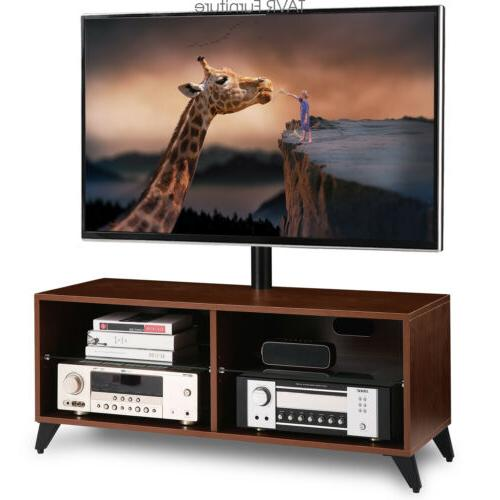 wood tv stand console with swivel mount