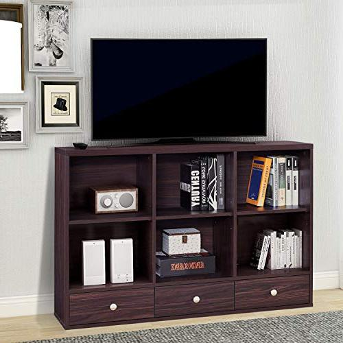 wood tv stand storage console