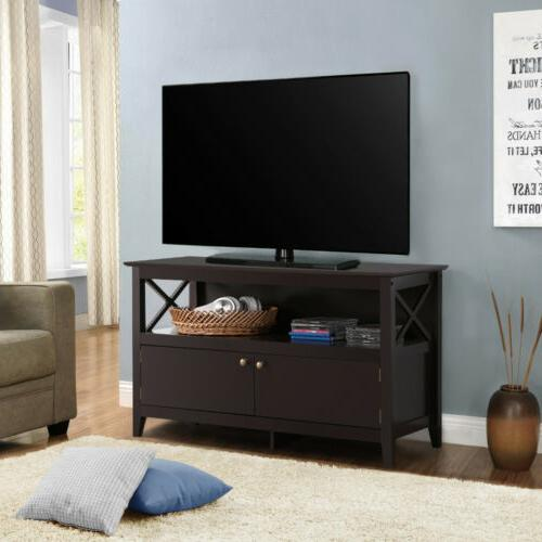x shape tv stand base console storage