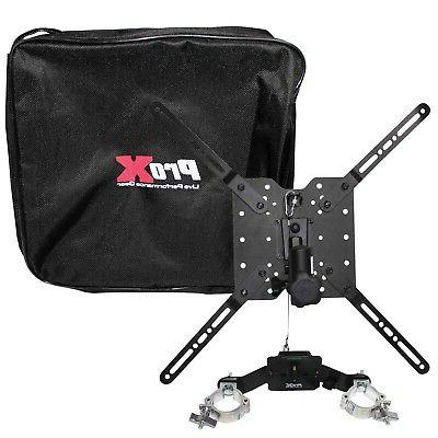 """2  LCD TV/MONITOR MOUNT 32"""" to 80"""" FOR 12"""" TRUSS OR SPEAKER"""