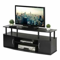 Large Entertainment Stand for TV 50 Inch, Blackwood Modern F