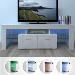 Large High Gloss White TV Unit Cabinet Stand w/LED Lights Sh
