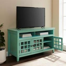 tv stand in distressed antique turquoise