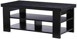 Larkin Coffee Table by Ameriwood Multiple Finishes Black Ebo