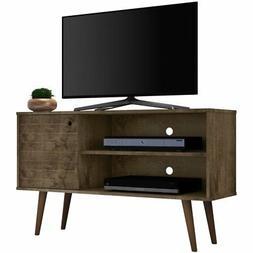 "Manhattan Comfort Liberty 43"" TV Stand in Rustic Brown"