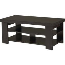 Living room home Wood Jensen Coffee Table - Espresso