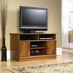 Living Room TV Panel Stand Hidden Storage Behind 2 Doors Adj