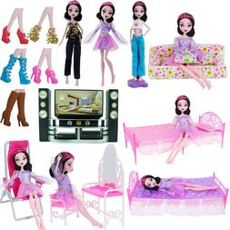 Lot Accessories Furniture Shoes Clothes for Monster High Dol