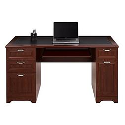 Realspace Magellan Collection Managers Desk, Classic Cherry