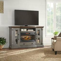 """Media Console LED Fireplace 65"""" Freestanding Electric Infrar"""
