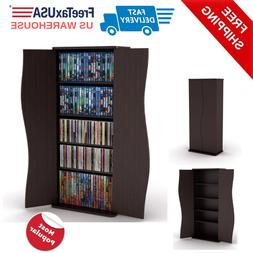 Media Storage Cabinet Game DVD Movie Tower Stable Home Organ