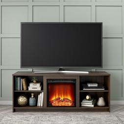 Media Storage TV Stand w/ Electric Fireplace for TV up to 65